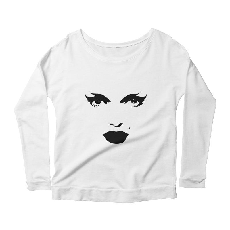 Contrast Make up Women's Scoop Neck Longsleeve T-Shirt by Sasha Mirov's Artist Shop