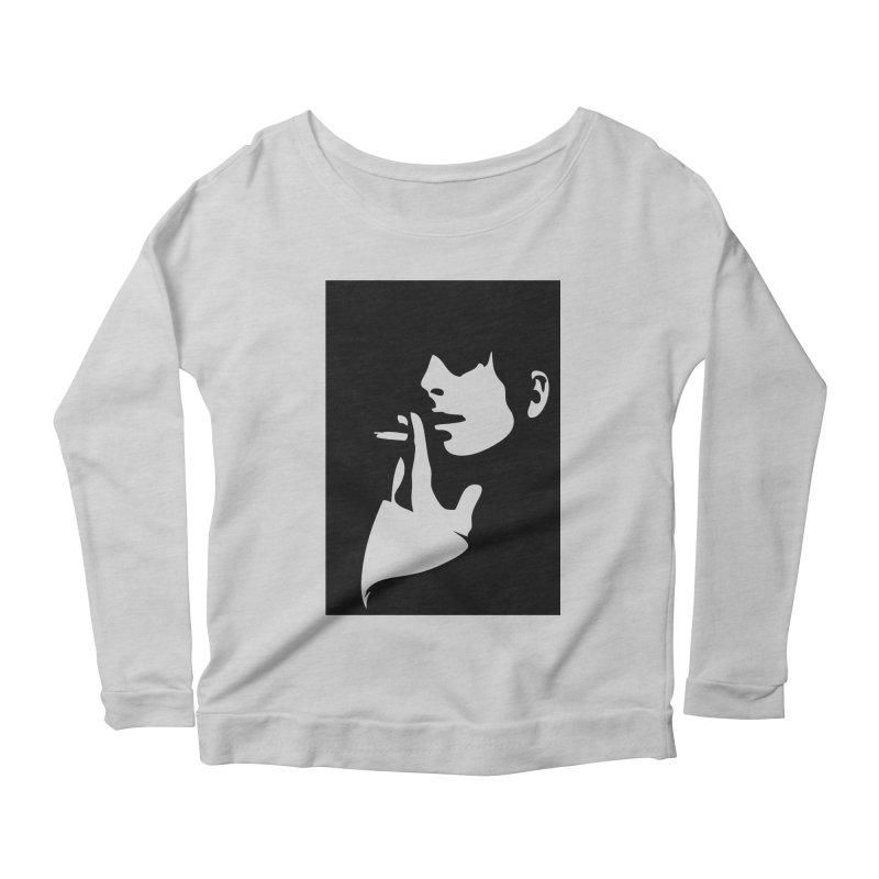Portrait with Cigarette Women's Scoop Neck Longsleeve T-Shirt by Sasha Mirov's Artist Shop