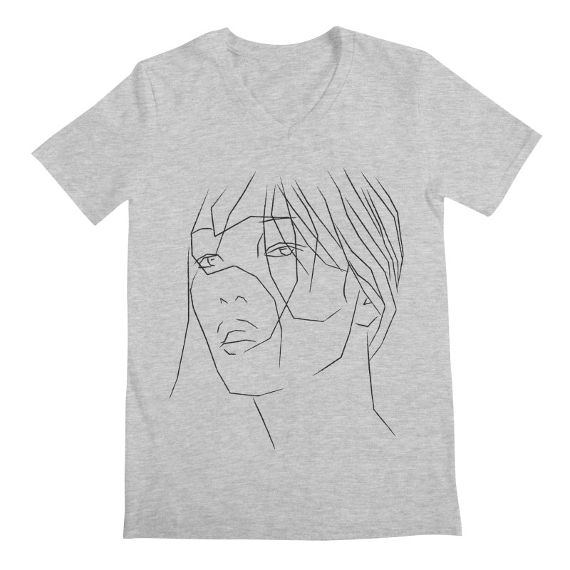 ASIAN GIRL Men's V-Neck by Sasha Mirov's Artist Shop