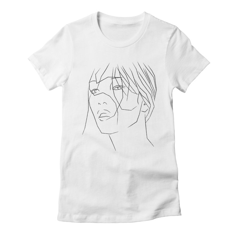ASIAN GIRL Women's Fitted T-Shirt by Sasha Mirov's Artist Shop