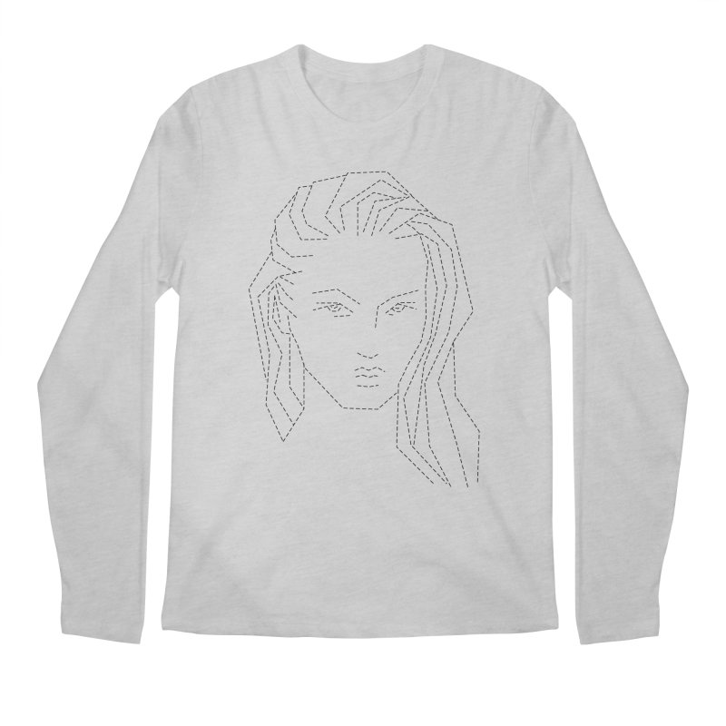 DASHED SKETCH Men's Longsleeve T-Shirt by Sasha Mirov's Artist Shop