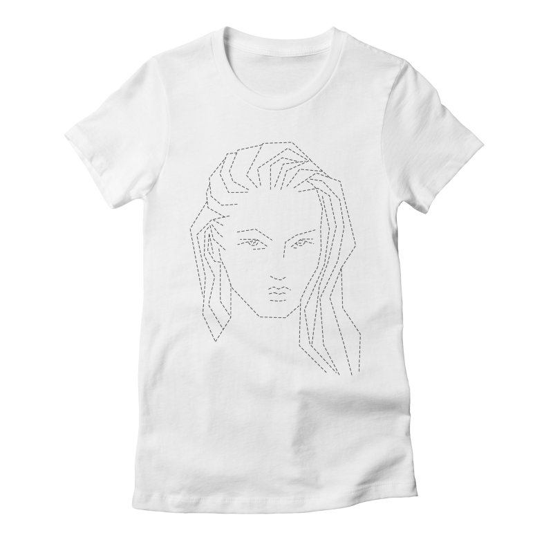 DASHED SKETCH Women's Fitted T-Shirt by Sasha Mirov's Artist Shop