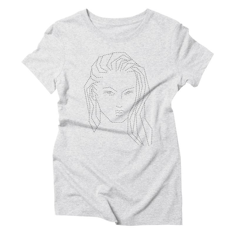 DASHED SKETCH Women's Triblend T-Shirt by Sasha Mirov's Artist Shop