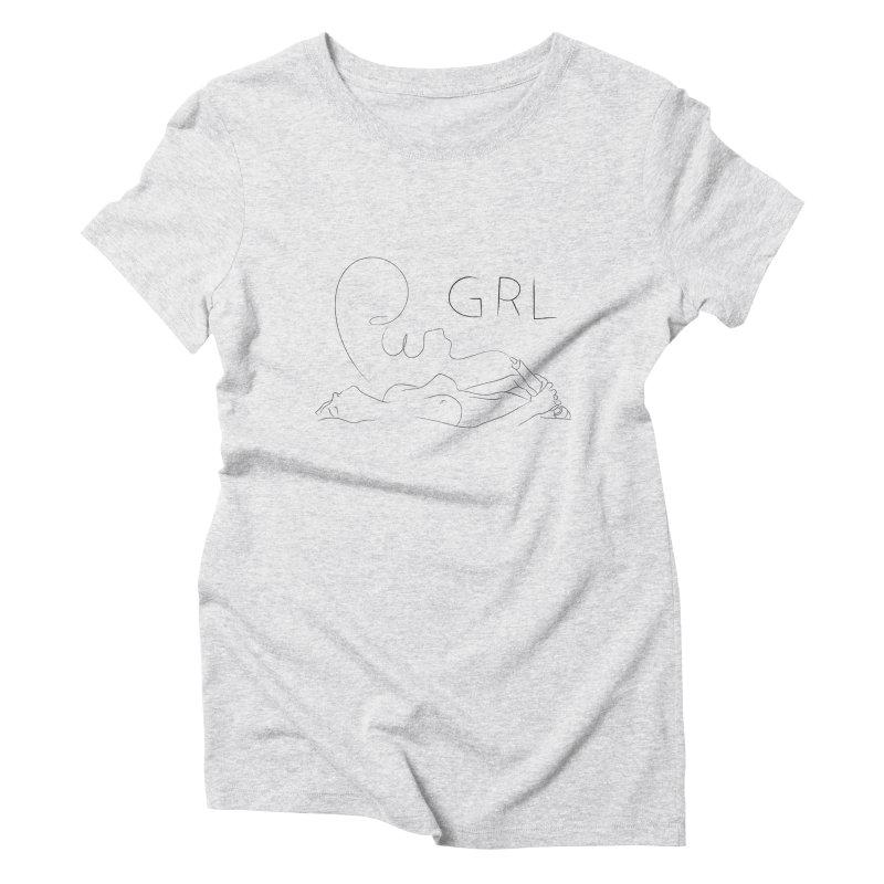 GRL PWR Women's Triblend T-Shirt by Sasha Mirov's Artist Shop