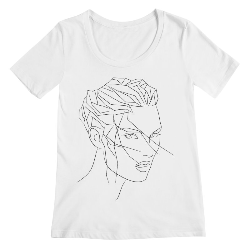 ICE HAIR Women's Regular Scoop Neck by Sasha Mirov's Artist Shop