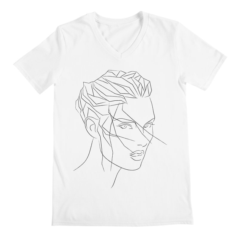 ICE HAIR Men's V-Neck by Sasha Mirov's Artist Shop