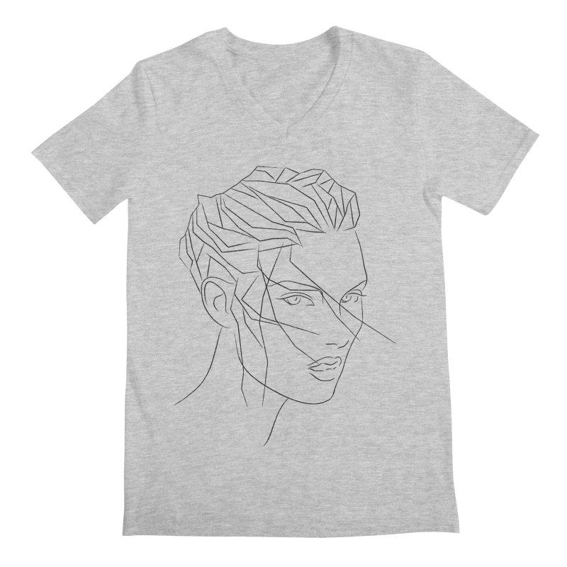 ICE HAIR Men's Regular V-Neck by Sasha Mirov's Artist Shop