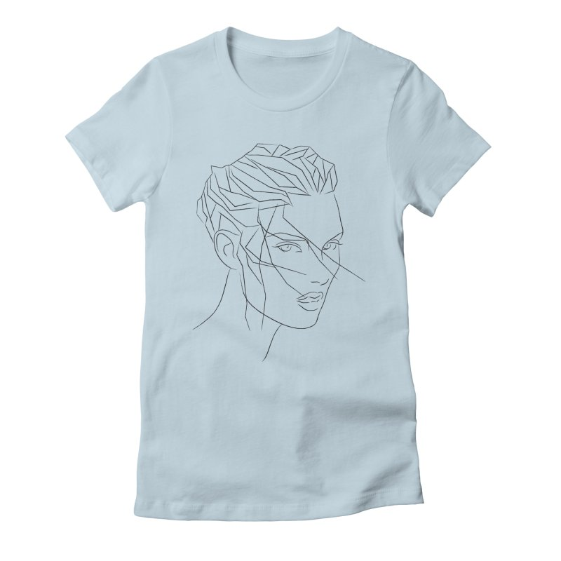 ICE HAIR Women's Fitted T-Shirt by Sasha Mirov's Artist Shop