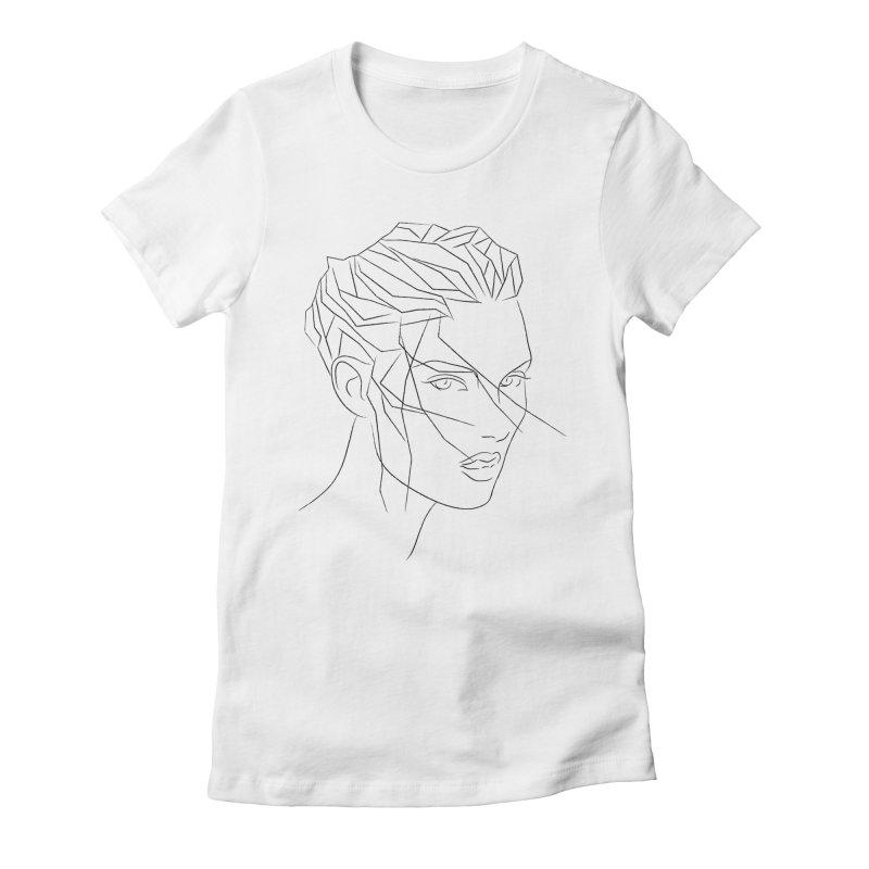 ICE HAIR Women's Fitted T-Shirt by Sasha Mirov's Artist Shop