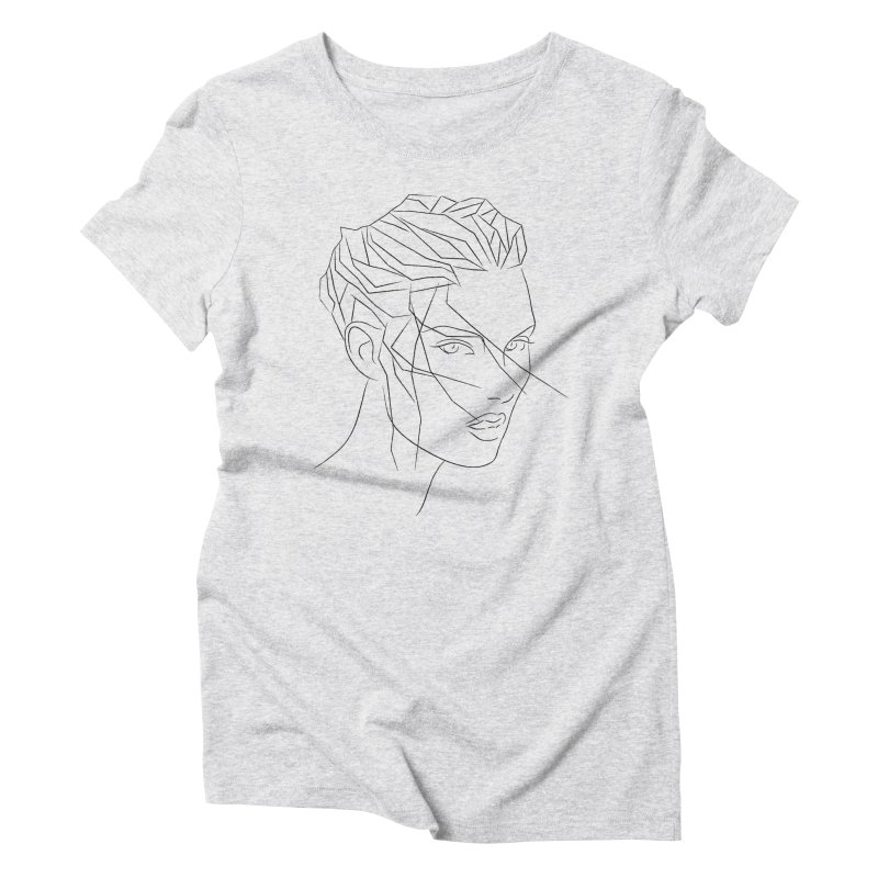 ICE HAIR Women's Triblend T-Shirt by Sasha Mirov's Artist Shop
