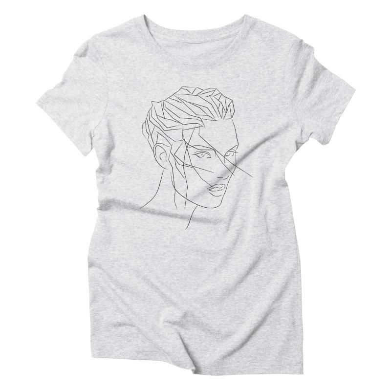 ICE HAIR Women's Triblend T-shirt by Sasha Mirov's Artist Shop