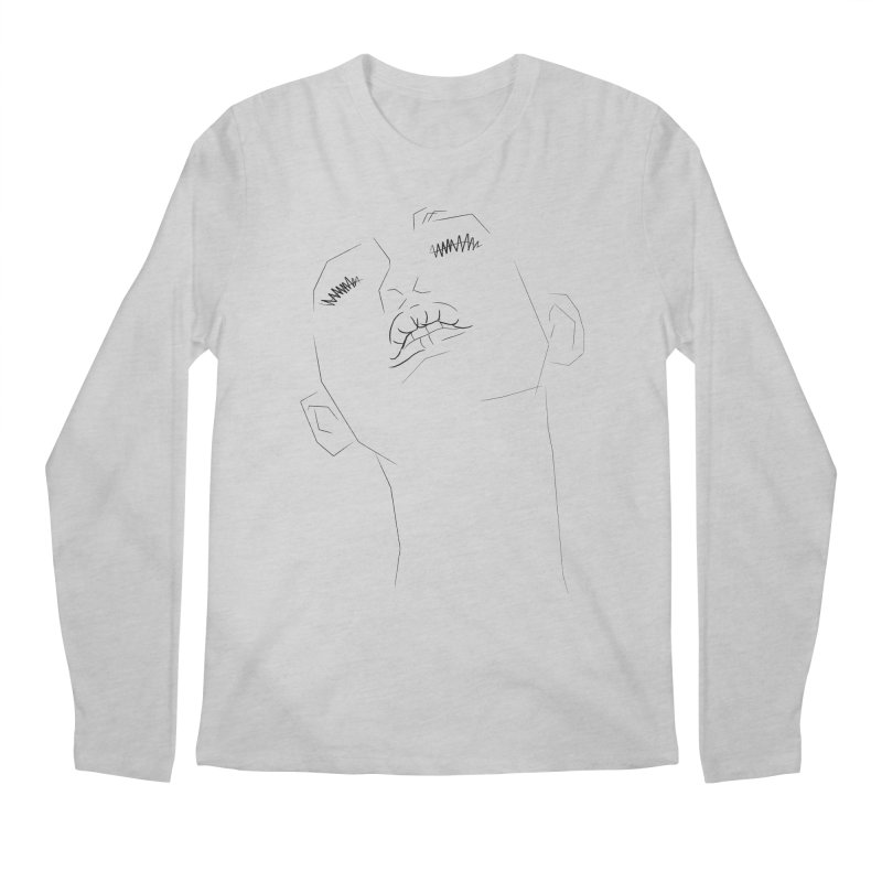 LIPS Men's Longsleeve T-Shirt by Sasha Mirov's Artist Shop