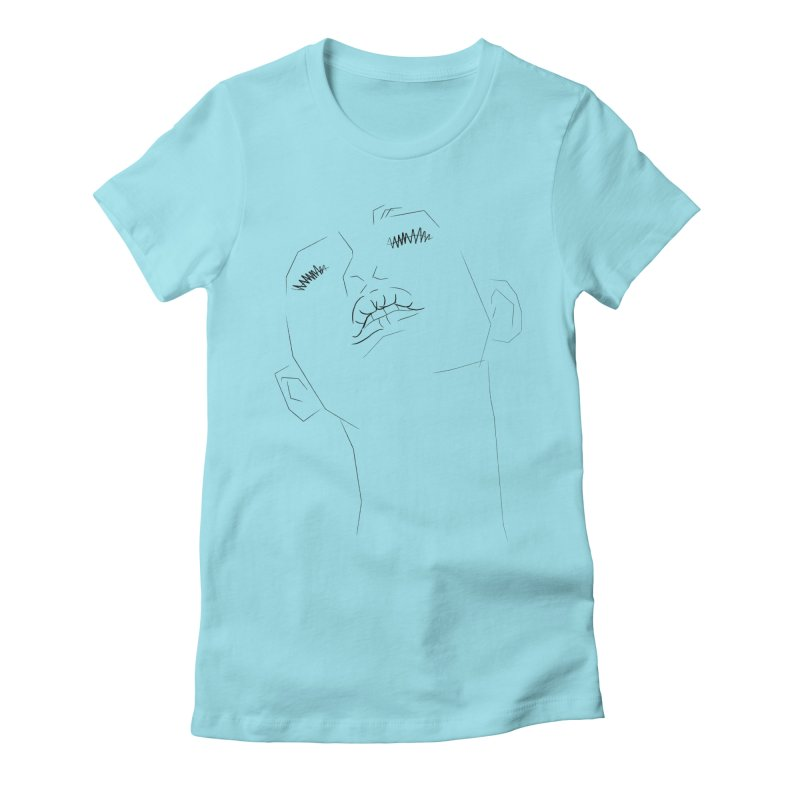 LIPS Women's Fitted T-Shirt by Sasha Mirov's Artist Shop