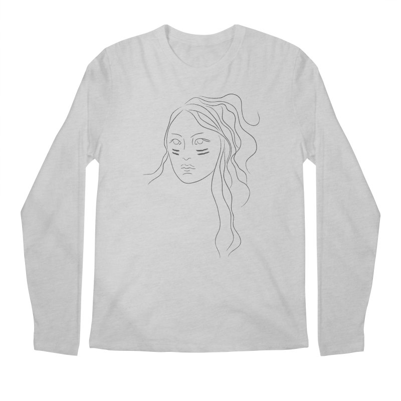 Native American Girl Men's Longsleeve T-Shirt by Sasha Mirov's Artist Shop