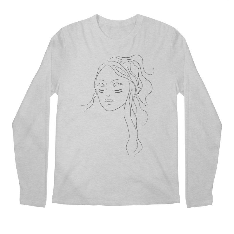 Native American Girl Men's Longsleeve T-Shirt by Sasha Mirov's Artist Shop