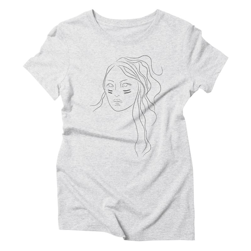 Native American Girl Women's Triblend T-Shirt by Sasha Mirov's Artist Shop