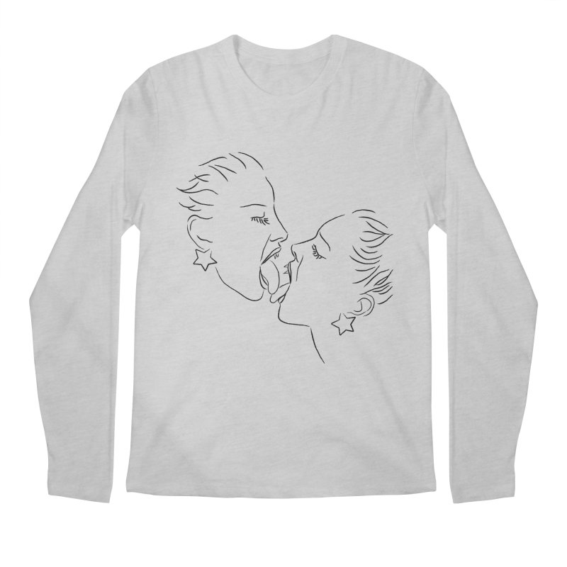 TONGUE Men's Regular Longsleeve T-Shirt by Sasha Mirov's Artist Shop
