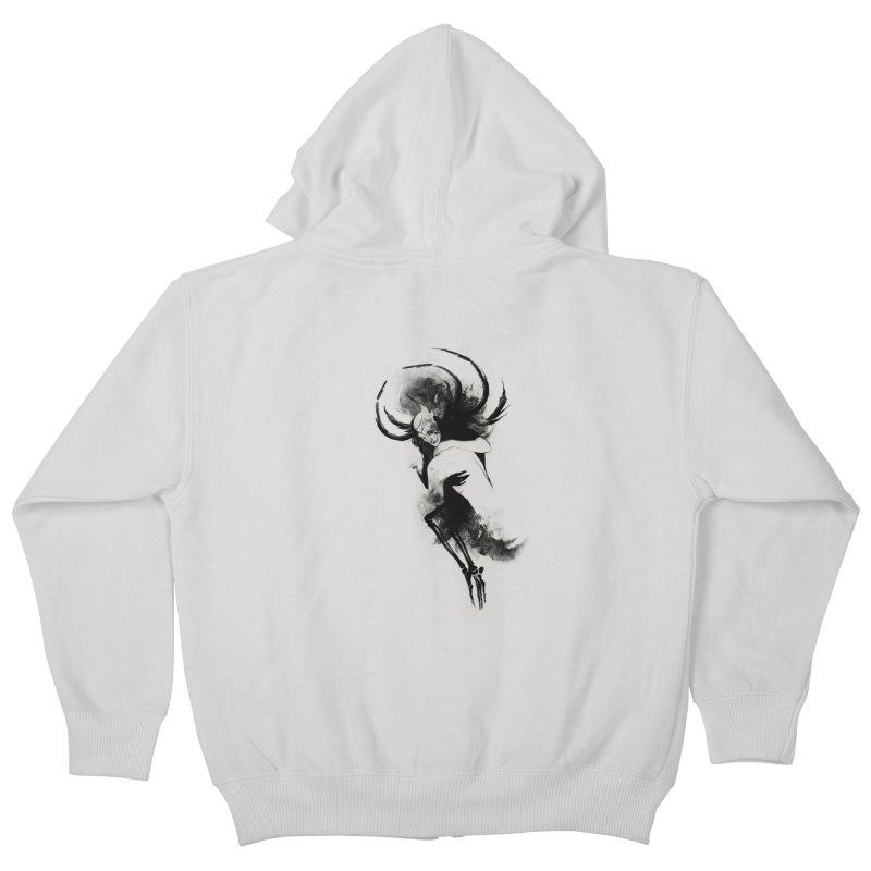Hel Kids Zip-Up Hoody by Sash-kash Artist Shop