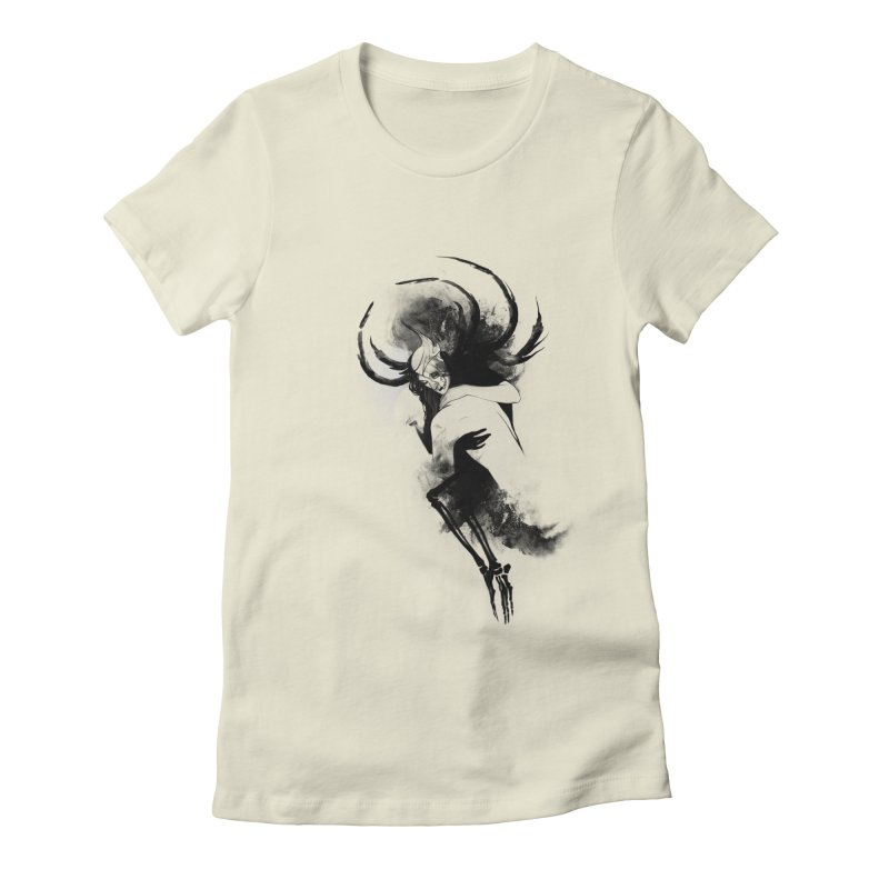 Hel Women's Fitted T-Shirt by Sash-kash Artist Shop