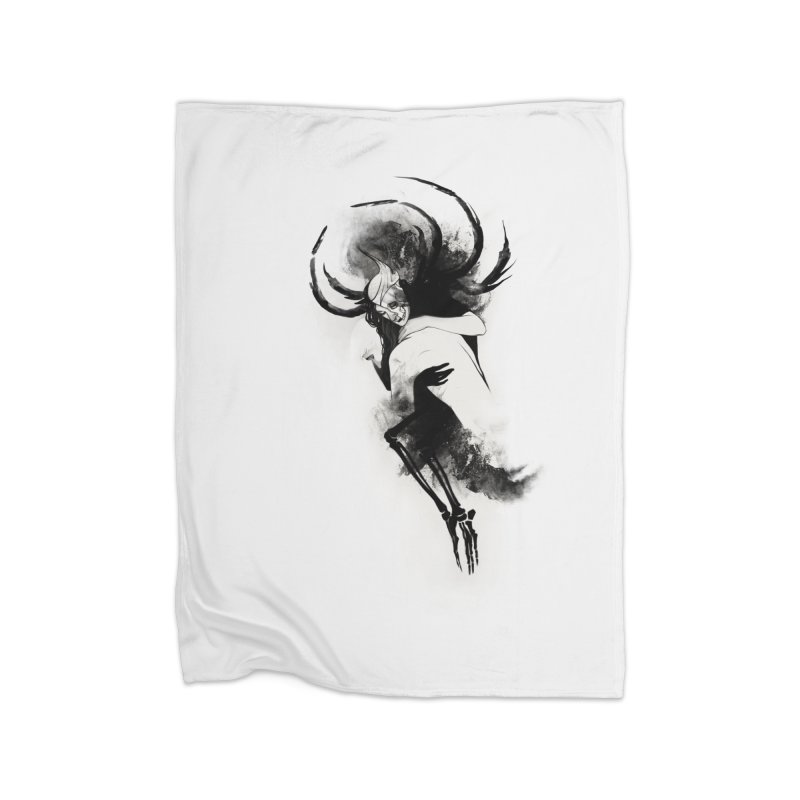 Hel Home Fleece Blanket Blanket by Sash-kash Artist Shop