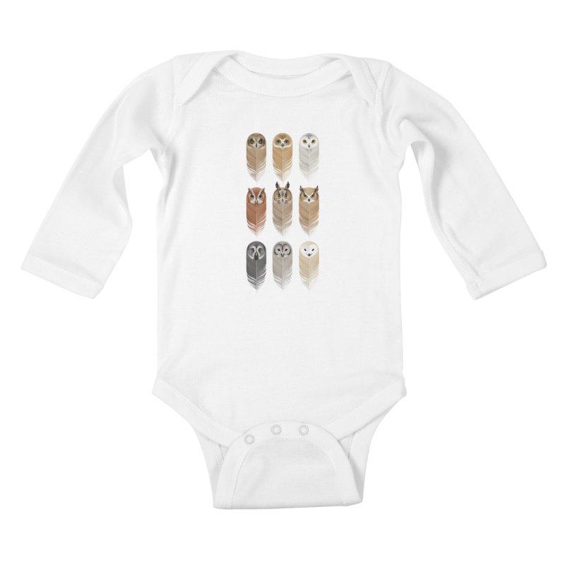 You're a Hoot Kids Baby Longsleeve Bodysuit by Sash-kash Artist Shop
