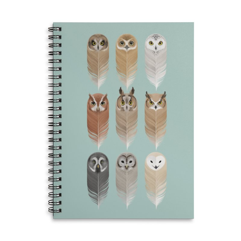 You're a Hoot Accessories Lined Spiral Notebook by Sash-kash Artist Shop