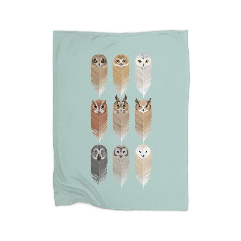 You're a Hoot Home Fleece Blanket Blanket by Sash-kash Artist Shop