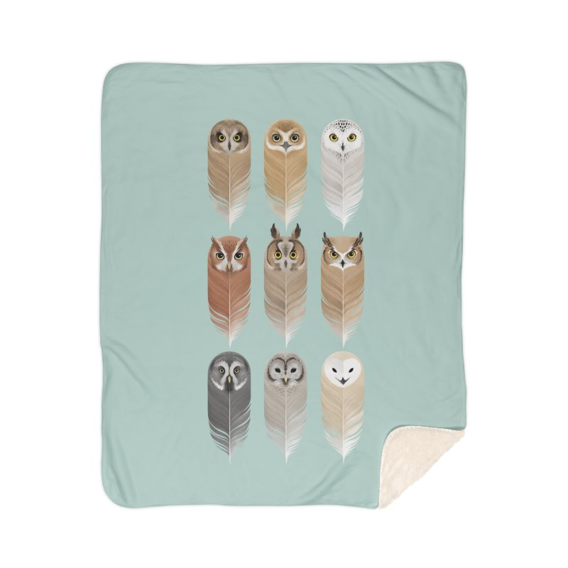 You're a Hoot Home Sherpa Blanket Blanket by Sash-kash Artist Shop