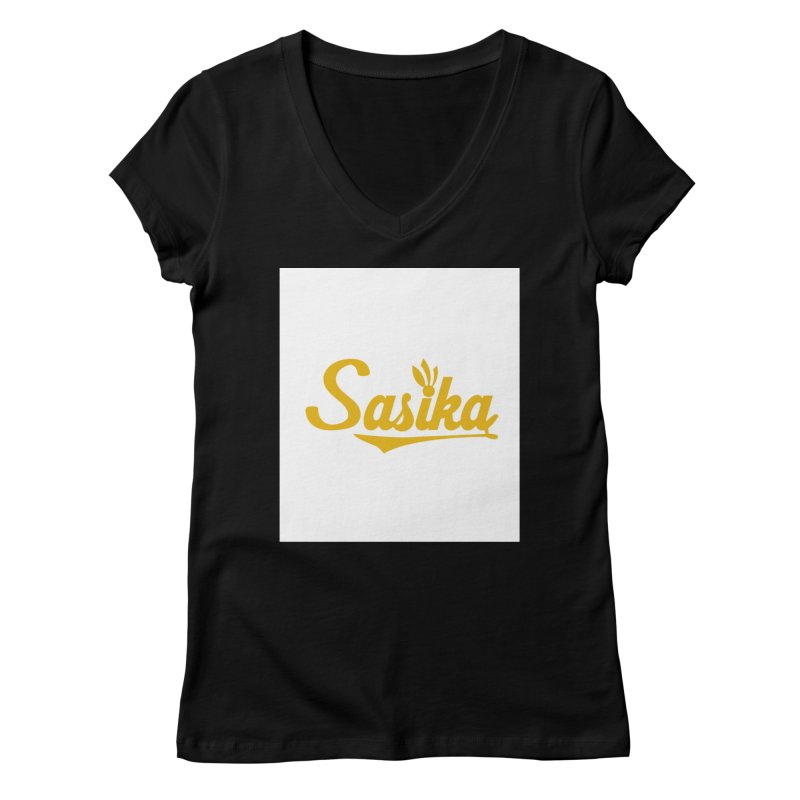 Sasika Design Original Women's V-Neck by Sasika Design Artist Shop