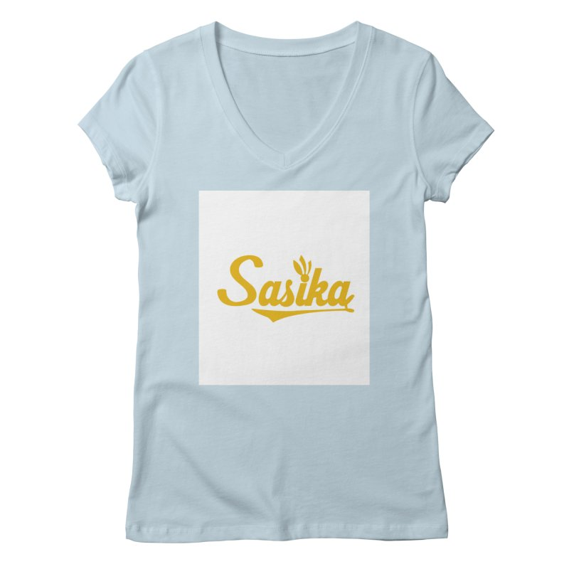 Sasika Design Original Women's Regular V-Neck by Sasika Design Artist Shop