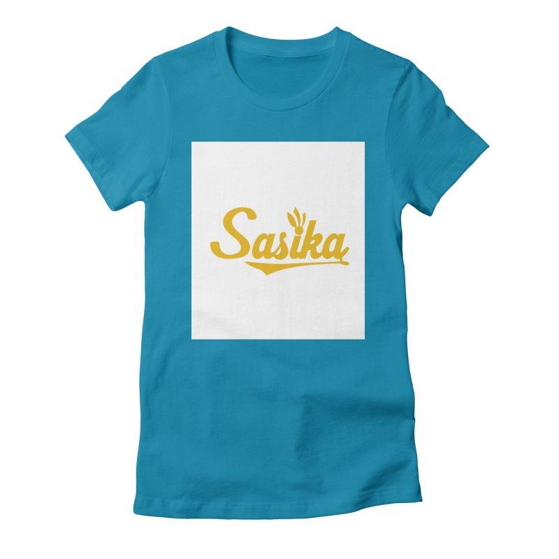 Sasika Design Original Women's Fitted T-Shirt by Sasika Design Artist Shop
