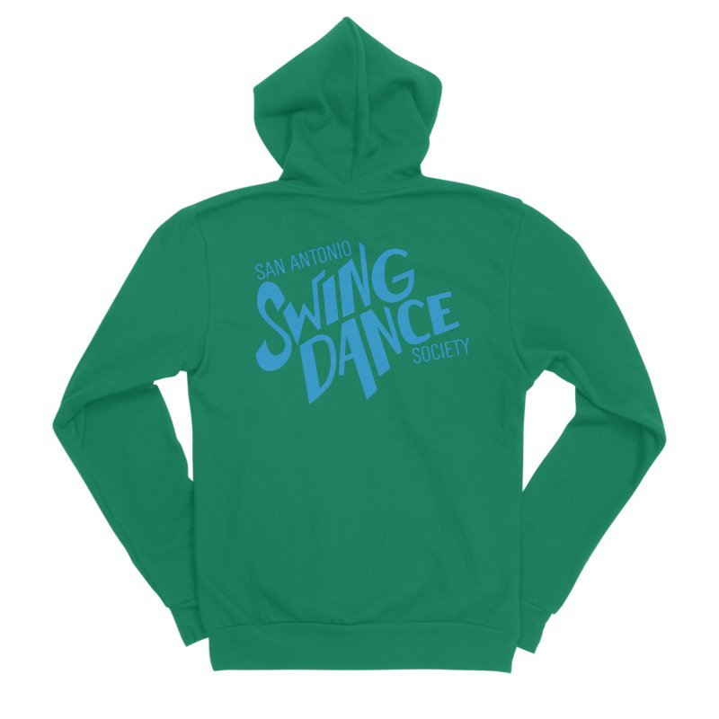SASDS_BLUE Women's Sponge Fleece Zip-Up Hoody by SAs Swing's Artist Shop