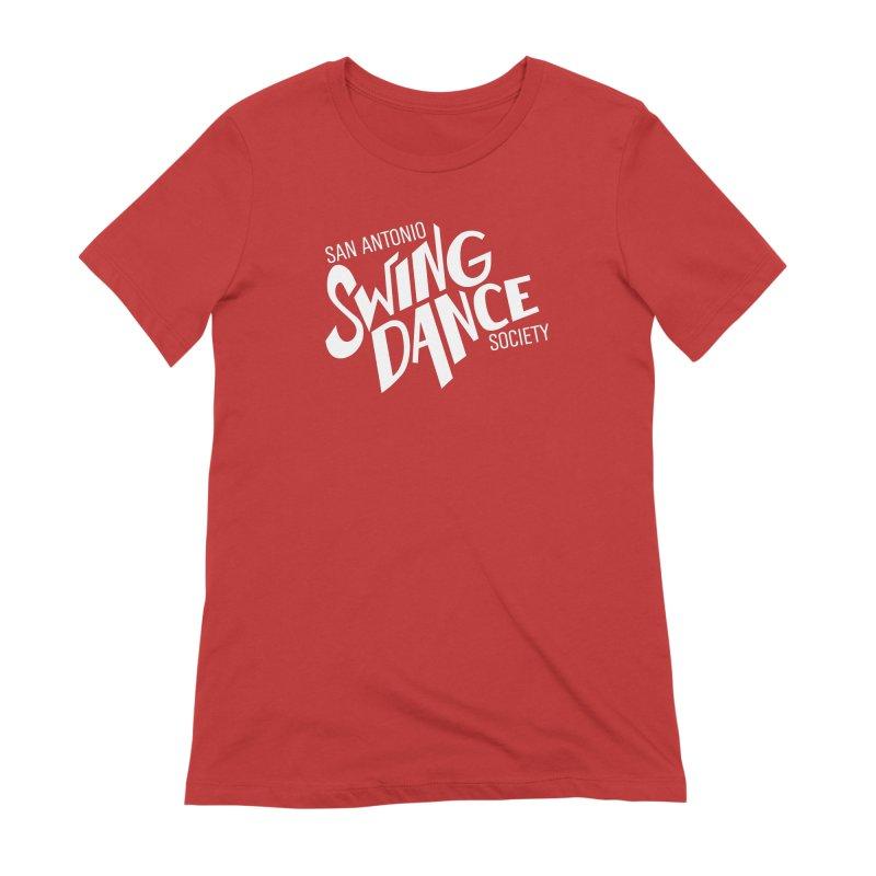 SASDS_White Women's Extra Soft T-Shirt by SAs Swing's Artist Shop