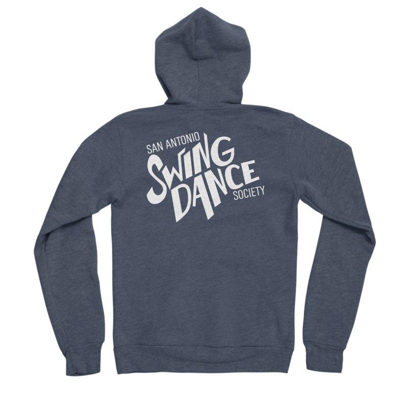 SASDS_White Women's Sponge Fleece Zip-Up Hoody by SAs Swing's Artist Shop