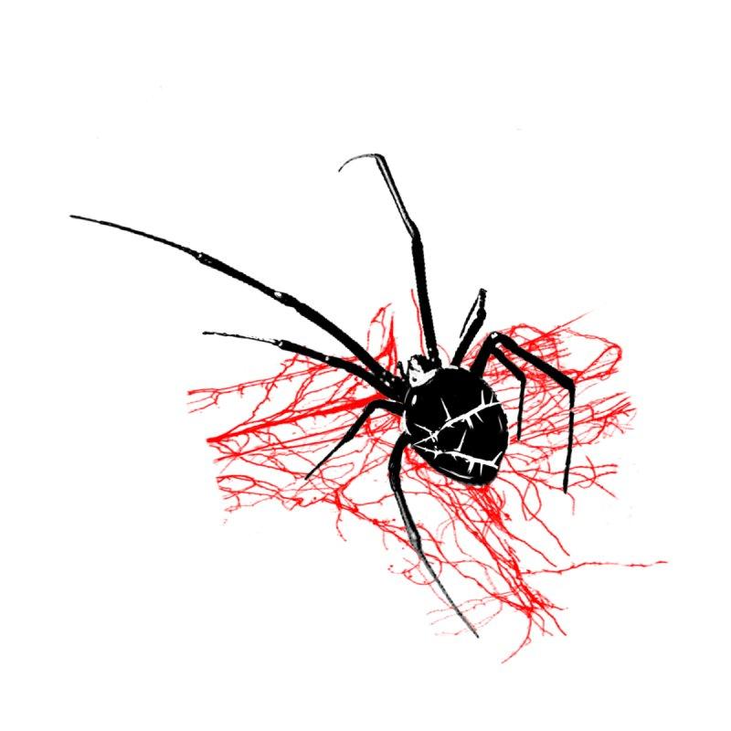 Red web Men's Longsleeve T-Shirt by Satan's Lair
