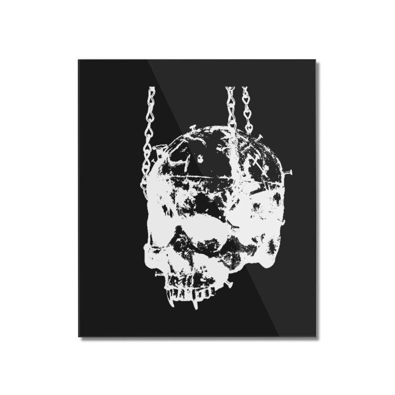 Vampire's skull inversion Home Mounted Acrylic Print by Satan's Lair