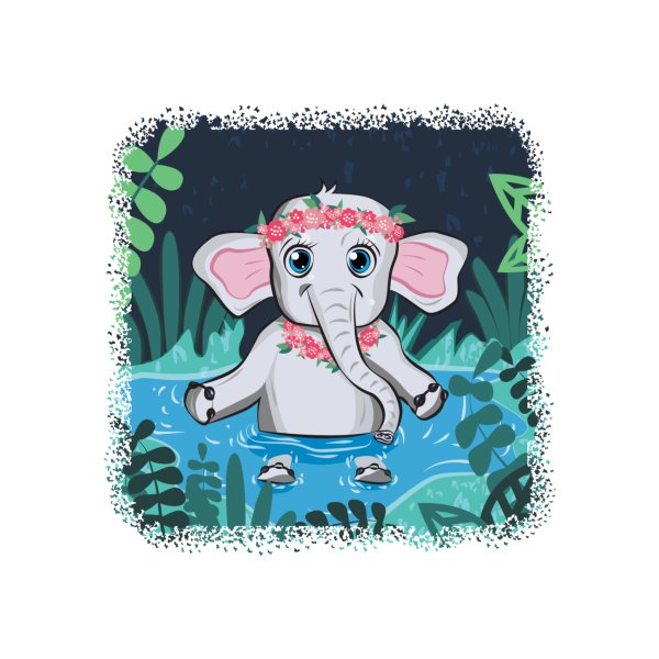 image for Cute Baby Elephant-Apparel