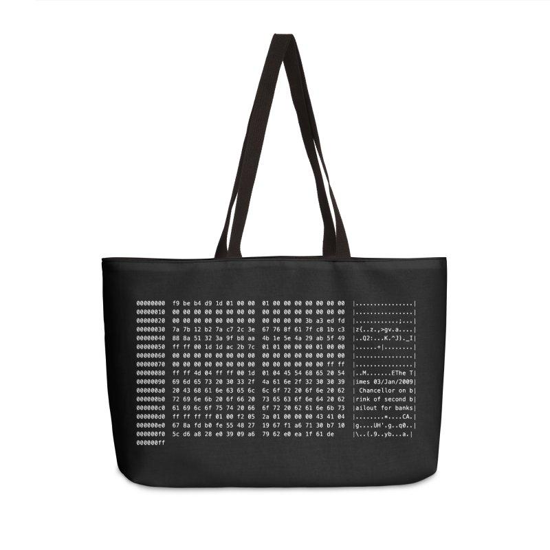 Genesis Accessories Weekender Bag Bag by satoshi's Artist Shop
