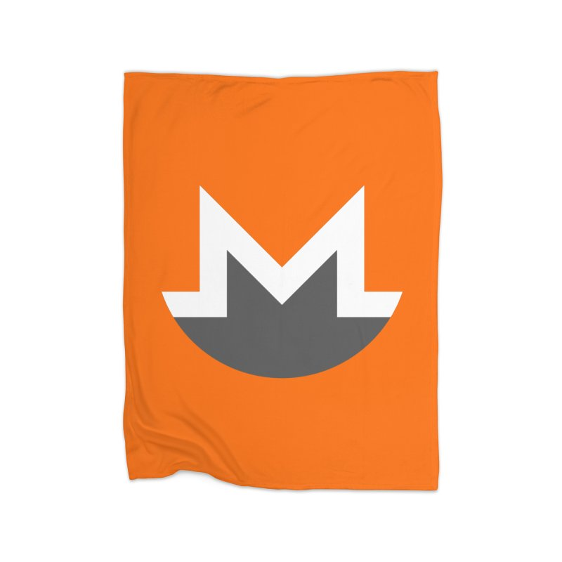 Monero Logo Home Fleece Blanket Blanket by satoshi's Artist Shop