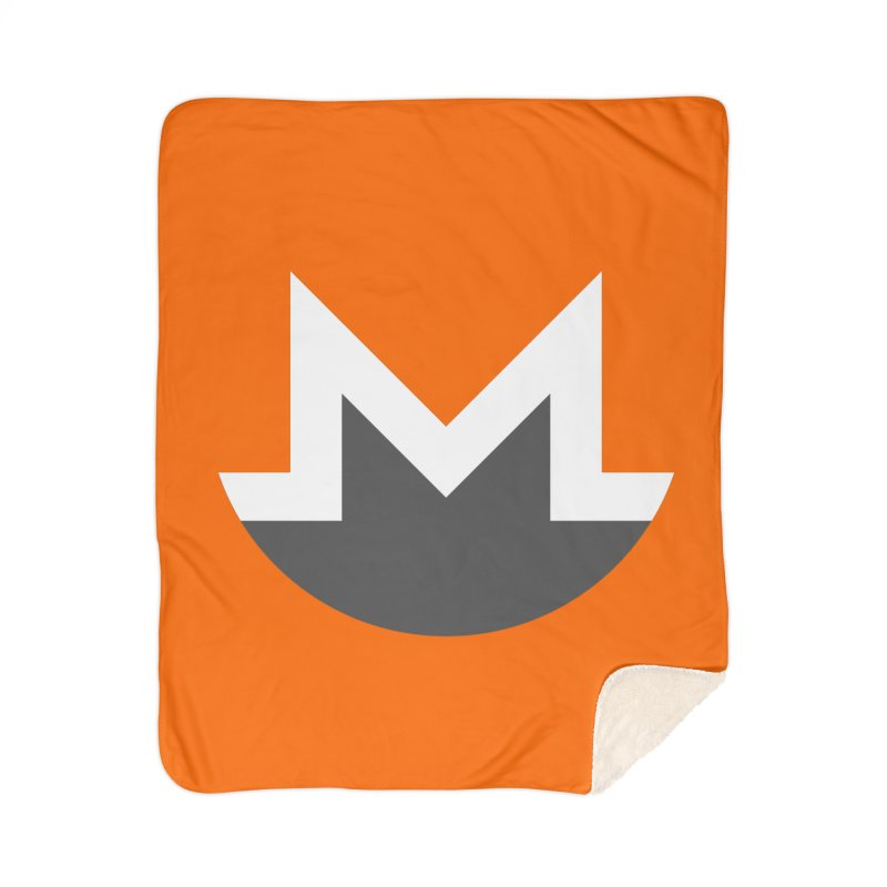 Monero Logo Home Sherpa Blanket Blanket by satoshi's Artist Shop