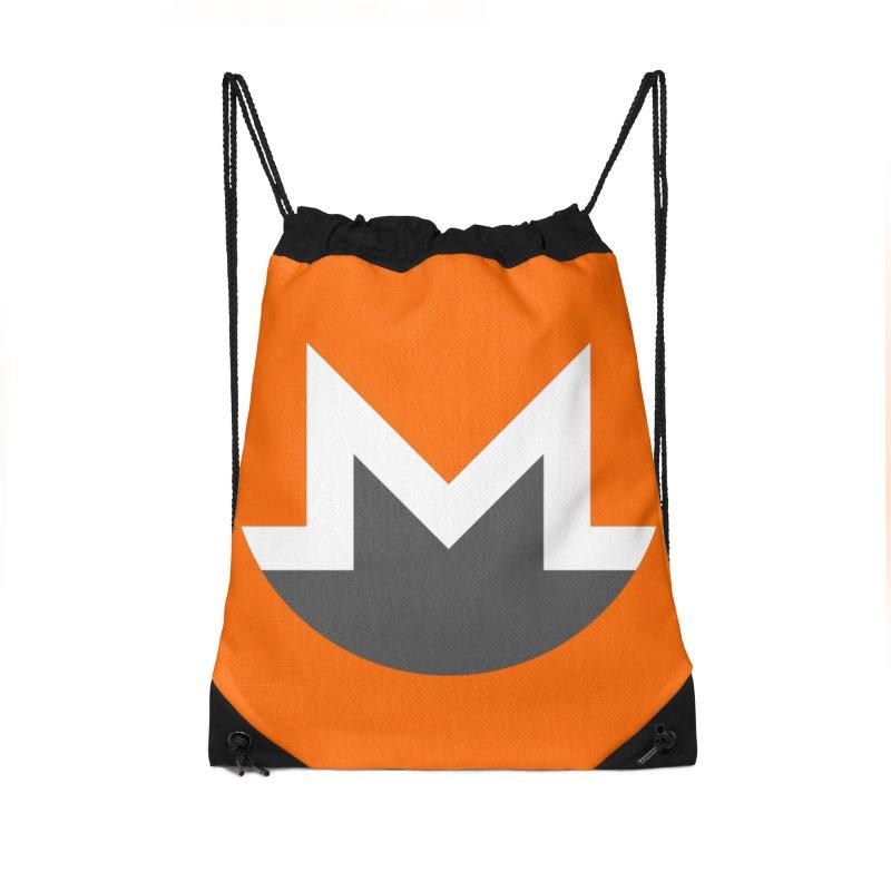 Monero Logo Accessories Drawstring Bag Bag by satoshi's Artist Shop