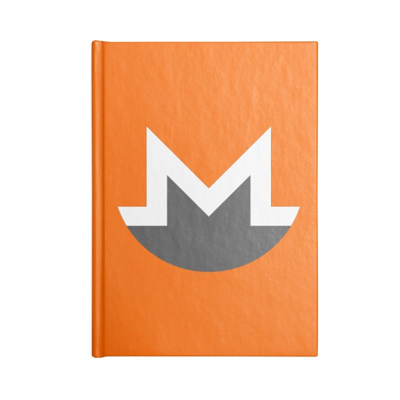 Monero Logo Accessories Lined Journal Notebook by satoshi's Artist Shop