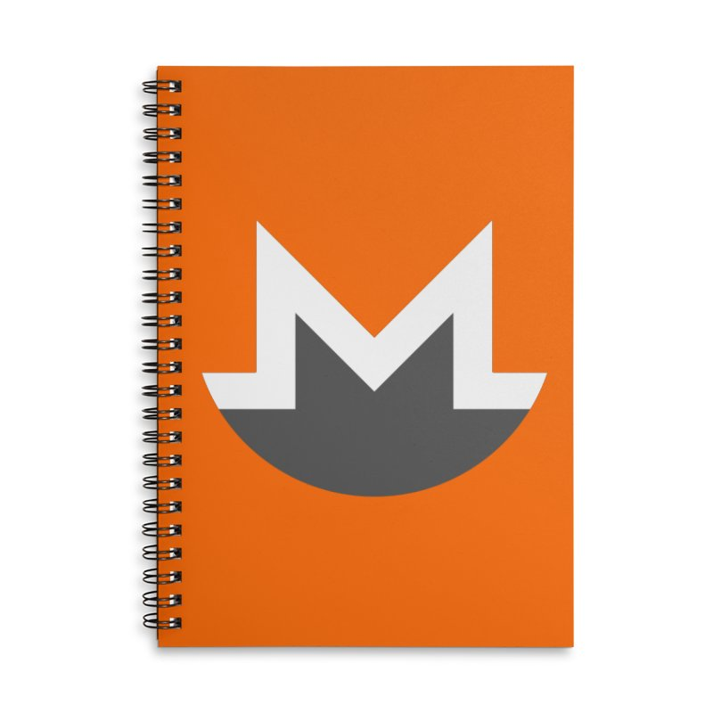 Monero Logo Accessories Lined Spiral Notebook by satoshi's Artist Shop