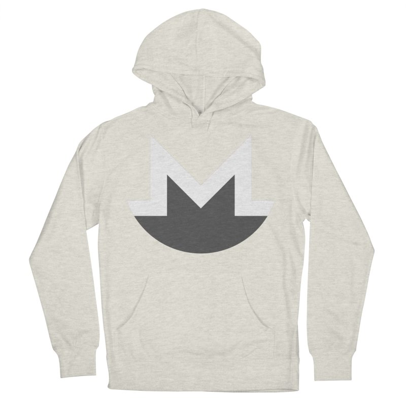 Monero Logo Women's French Terry Pullover Hoody by satoshi's Artist Shop