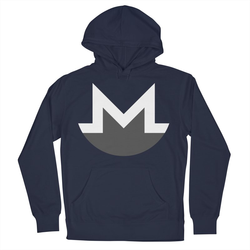 Monero Logo Men's French Terry Pullover Hoody by satoshi's Artist Shop