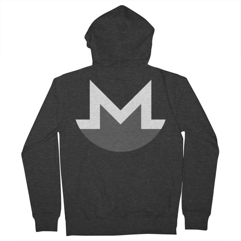 Monero Logo Women's French Terry Zip-Up Hoody by satoshi's Artist Shop