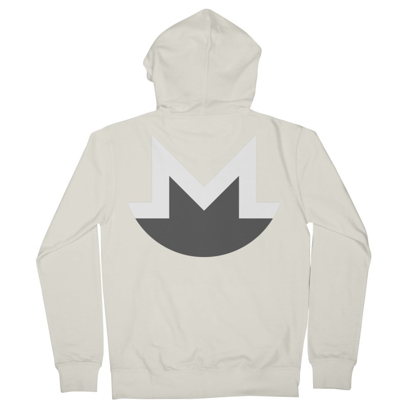 Monero Logo Men's French Terry Zip-Up Hoody by satoshi's Artist Shop
