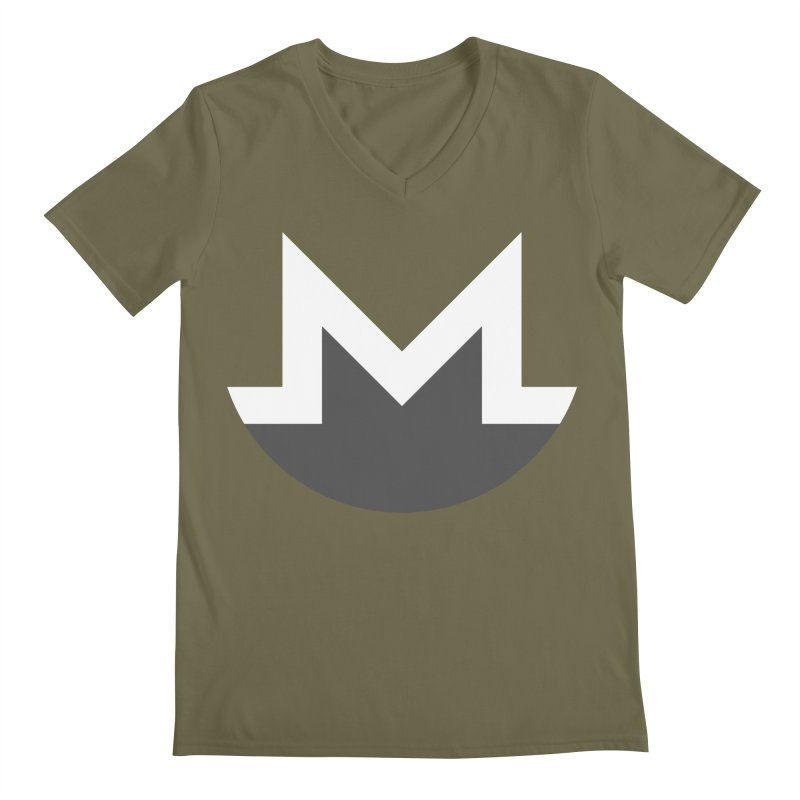 Monero Logo Men's Regular V-Neck by satoshi's Artist Shop
