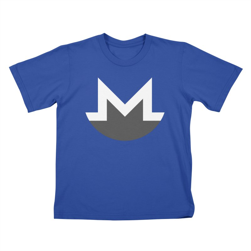 Monero Logo Kids T-Shirt by satoshi's Artist Shop