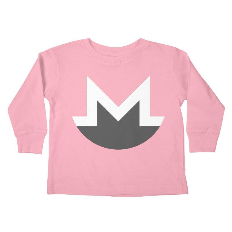 Monero Logo Kids Toddler Longsleeve T-Shirt by satoshi's Artist Shop